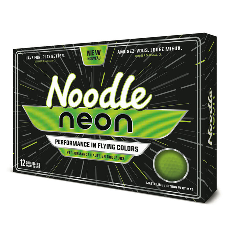 TaylorMade Noodle Neon Matte Green Golf Balls
