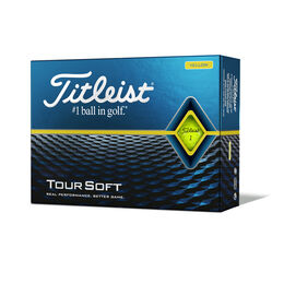 Tour Soft Yellow Golf Balls - Personalized