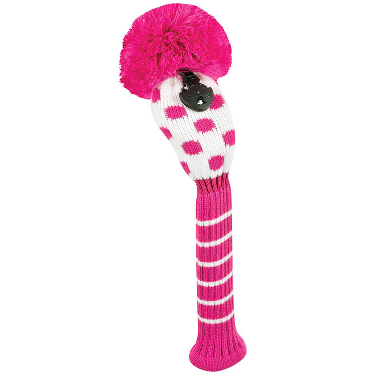 Just 4 Golf Small Pink & White Dot Hybrid Headcover