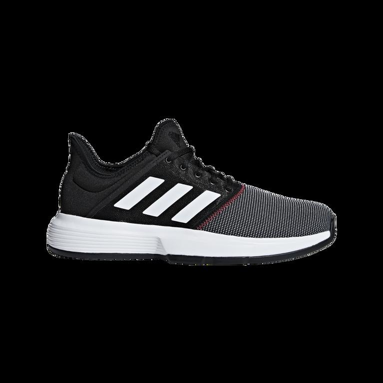 adidas GameCourt Men's Tennis Shoe - Black/White