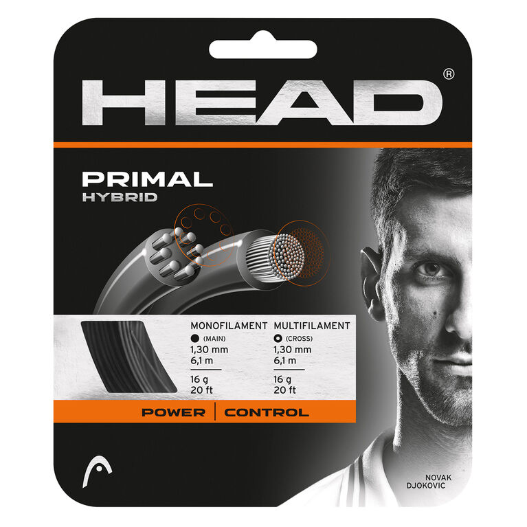 Head Primal 16 Gauge String - Black/Grey