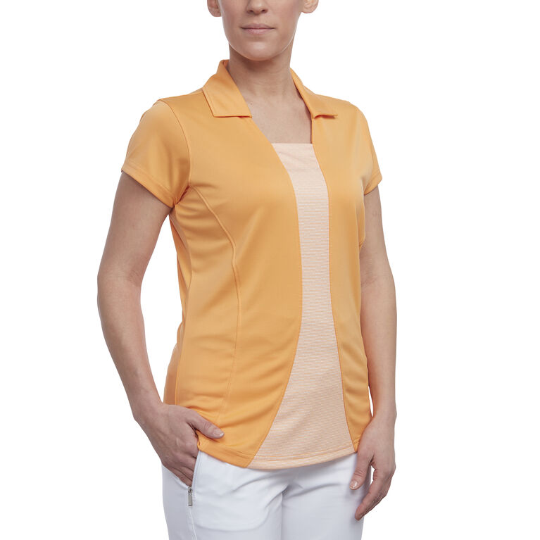 Pink Glo Group: Short Sleeve 2-Fer Polo
