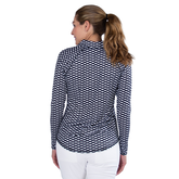 Alternate View 5 of Key West Collection: Long Sleeve Geo Print Quarter Zip Pull Over