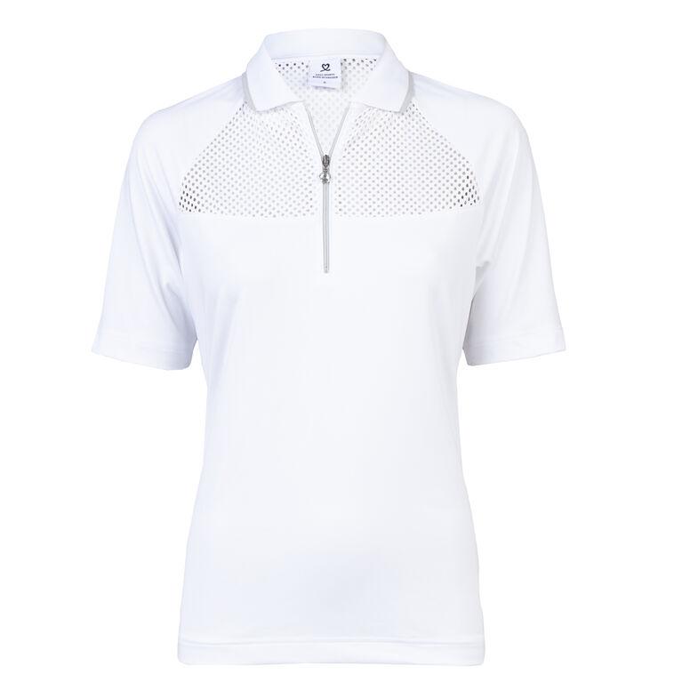 Domia White Polo Shirt