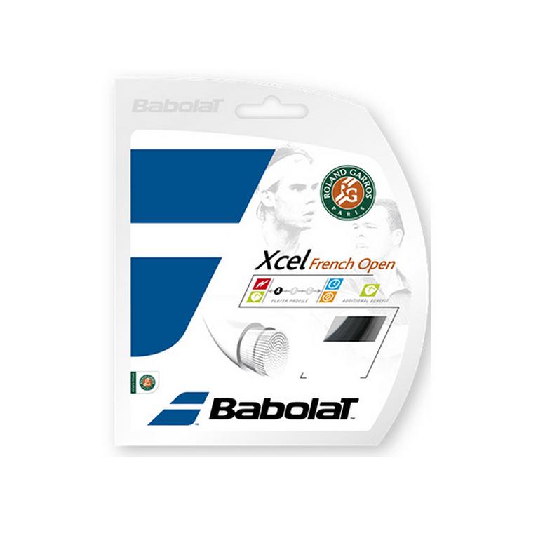 Babolat Xcel French Open 16 Gauge String - Black