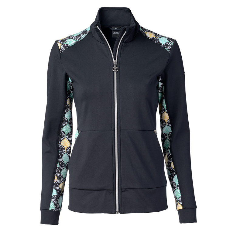 Feminine Sport Collection: Long Sleeve Printed Panel Full Zip Jacket