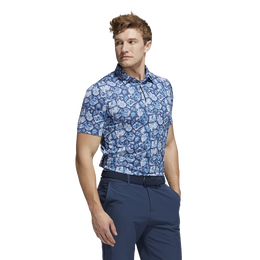 Cobblestone-Print Recycled Content Polo Shirt