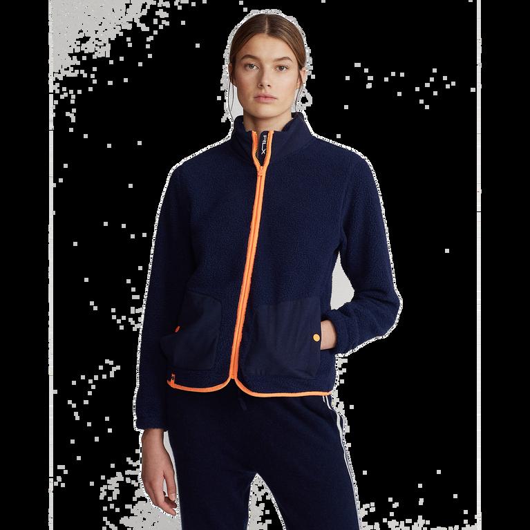 Long Sleeve Sherpa Full Zip Golf Jacket