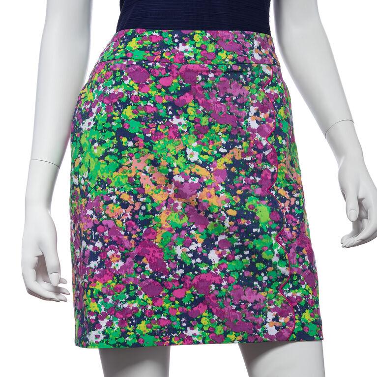 Treasure Island Group: Garden Splatter Floral Print Compression Skort