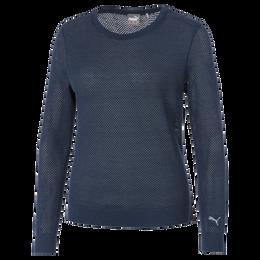 Puma Long Sleeve Mesh Crewneck Sweater