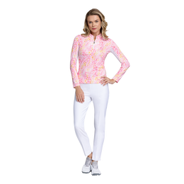 Fun in the Sun Collection: Leopard Print Long Sleeve Quarter Zip Pull Over