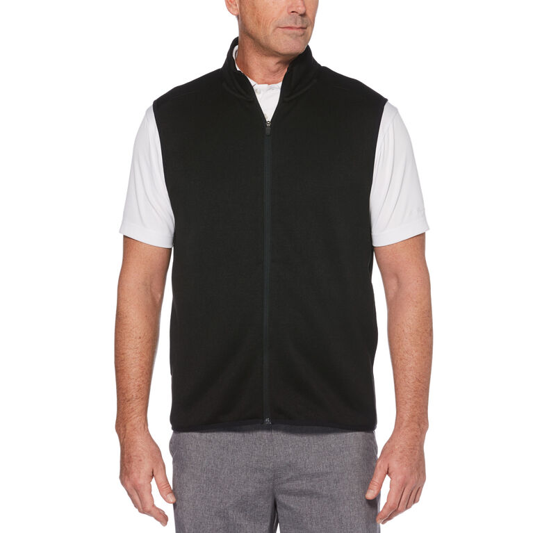 Full-Zip Fleece Golf Vest
