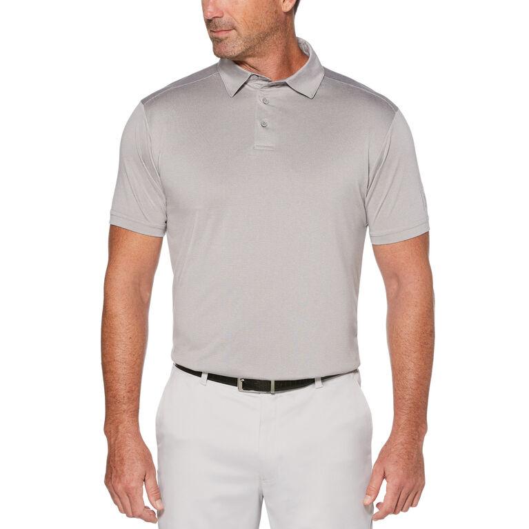 Fine Line Yarn Dyed End on End Short Sleeve Polo Golf Shirt
