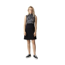 Graphic Collection: Luna Black Leaf Print Sleeveless Dress