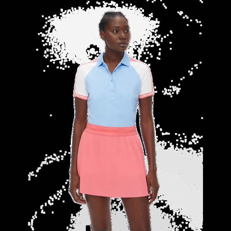 Perinne Short Sleeve Colorblock Polo Shirt