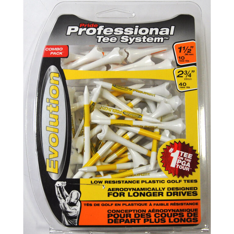 Professional Tee System 2-3/4 inch Golf Tees 50 Pack