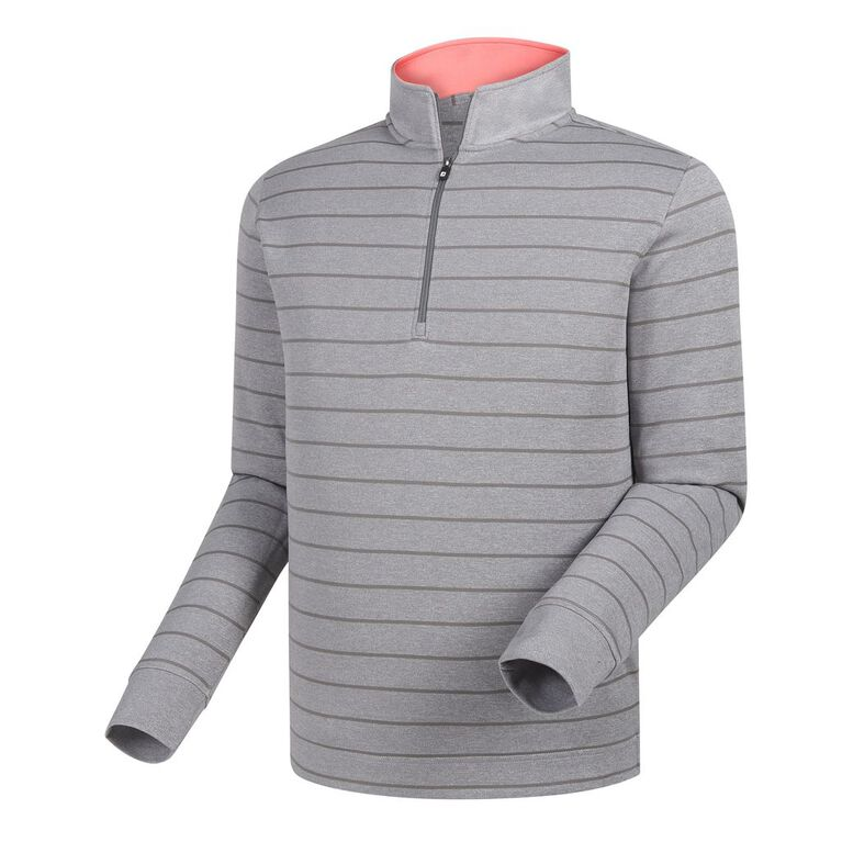 Double Layer Stripe Half-Zip Mid-Layer
