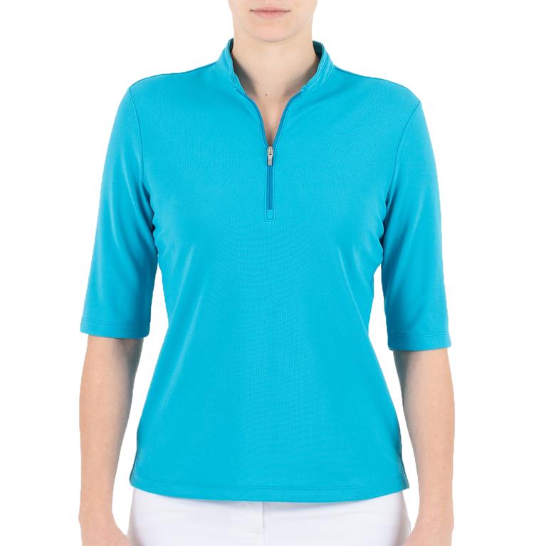 Noa Elbow Sleeve Polo Shirt