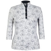 360 by Tail Rosa Print 3/4 Sleeve Top