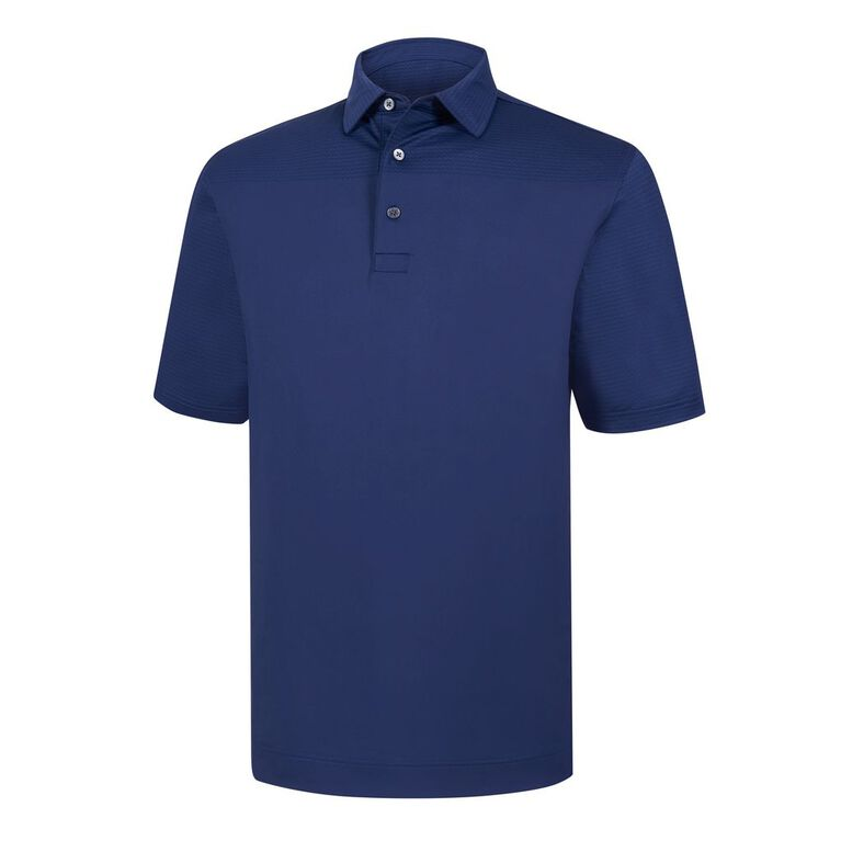 Lisle Engineered Tonal Print Self Collar Polo