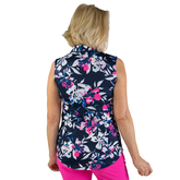 Alternate View 6 of Rojito Collection: Floral Sleeveless Polo Shirt