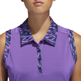Alternate View 5 of Ultimate365 Printed Sleeveless Polo Shirt