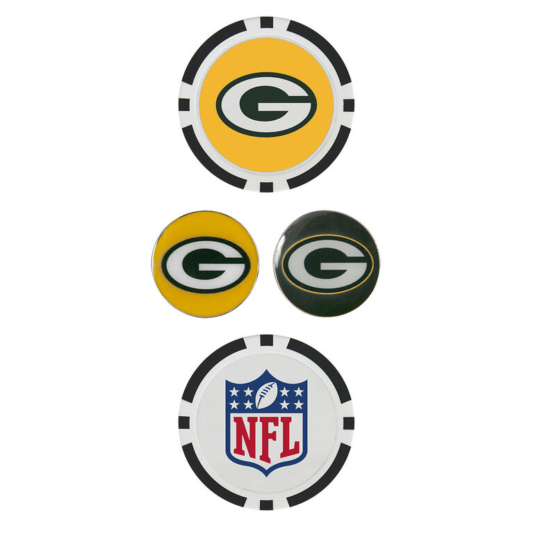 Team Effort Green Bay Packers Ball Marker Set