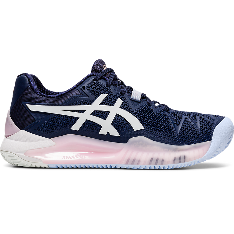 GEL RESOLUTION 8 CLAY Women's Tennis Shoes - Navy/White