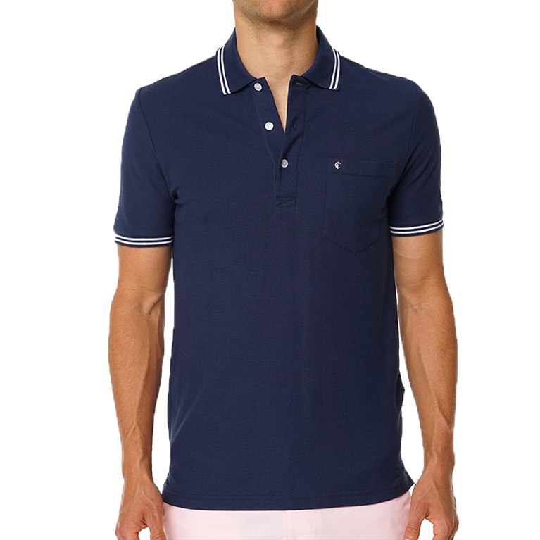 Solid Pique Pocket Polo