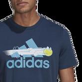 Alternate View 3 of Men's Graphic Logo Tennis Tee Shirt
