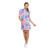 Alternate View 1 of Fun in the Sun Collection: Zaya Printed Palm Elbow Sleeve Dress