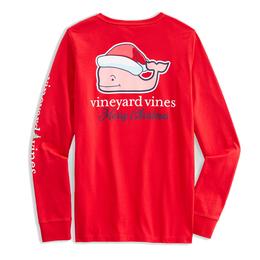 Santa Whale Long Sleeve Tee