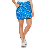 PGA TOUR Black and Blues Collection: Floral Print Golf Skort