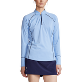 Alternate View 3 of Performance Golf Scallop Collar Quarter Zip Pull Over