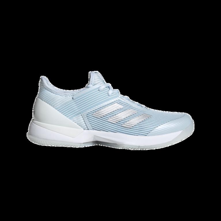 Adizero Ubersonic 3 Women's Tennis Shoe - Light Blue/White