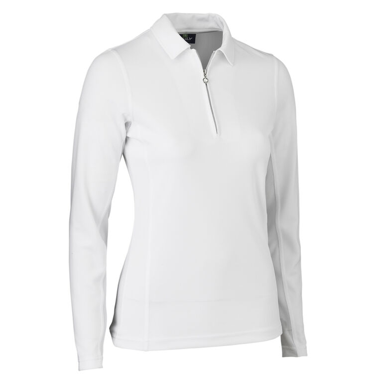 Daily Sports Macy White Long Sleeve Solid Polo