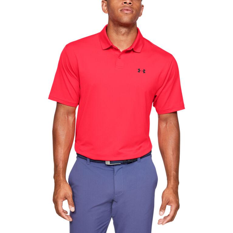 Performance Textured Men's Golf Polo Shirt