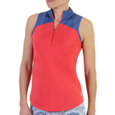 Dixie Group: Sleeveless Zip Cutaway Mock