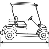 2 Passenger Golf Cart Storage Cover