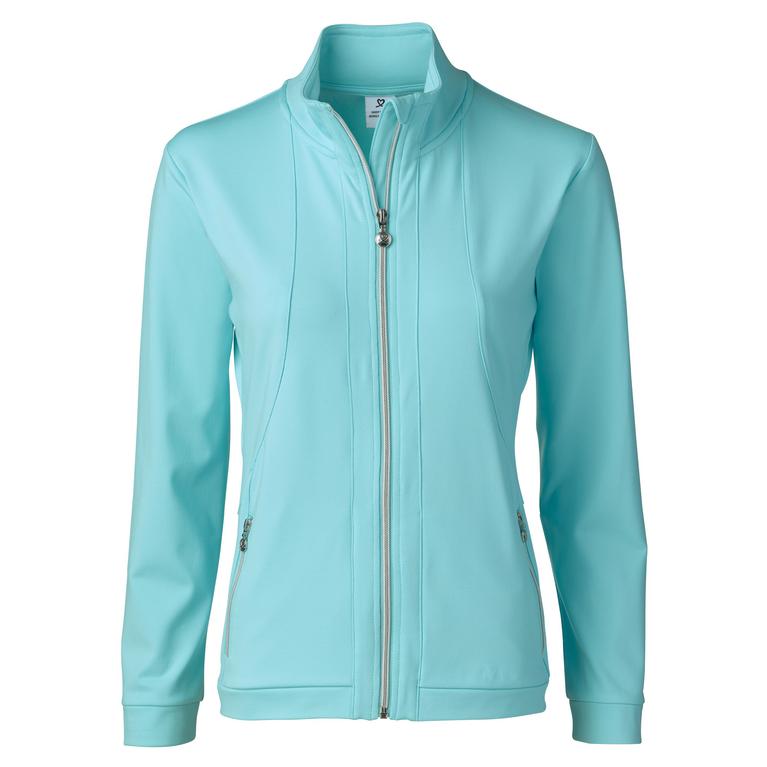 Feminine Sport Collection: Long Sleeve Full Zip Biarritz Azul Jacket