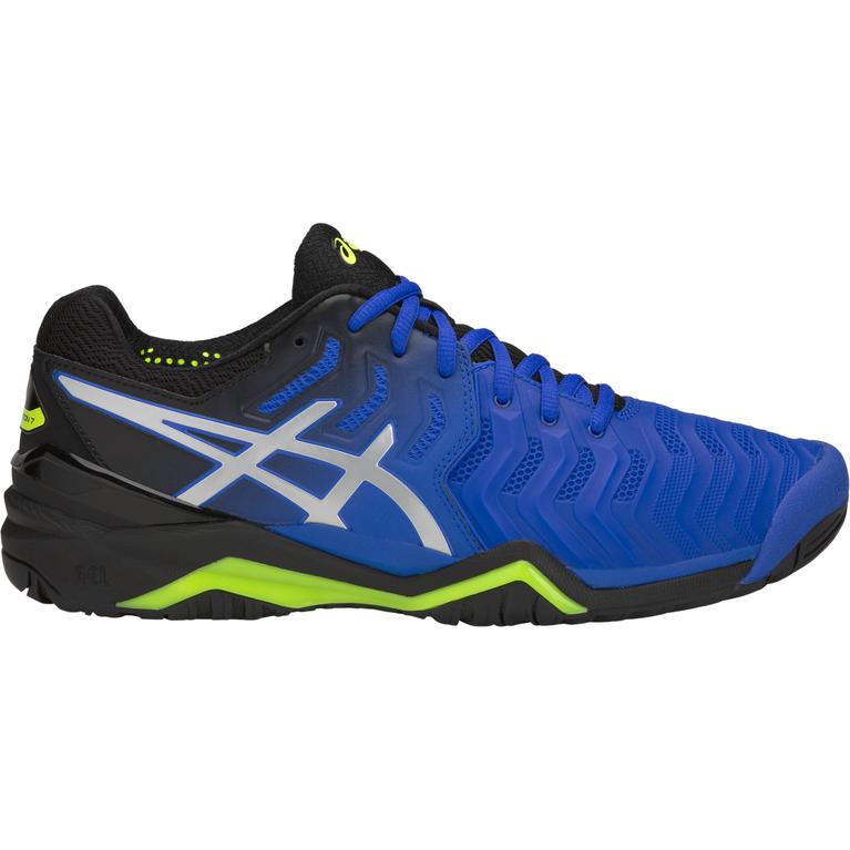 GEL-Resolution 7 Men's Tennis Shoe - Black/Blue