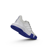 Alternate View 4 of ADIWEAR™ 6 CourtJam XJ Junior's Tennis Shoe - Off White/Royal Blue
