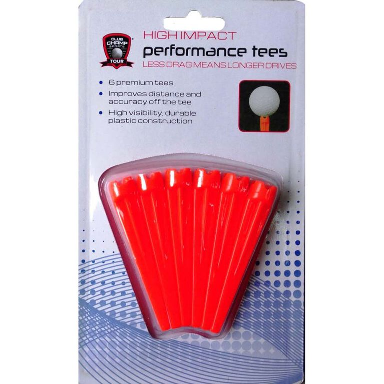 Golf Gifts & Gallery High Impact Performance Golf Tees - 6 Pack