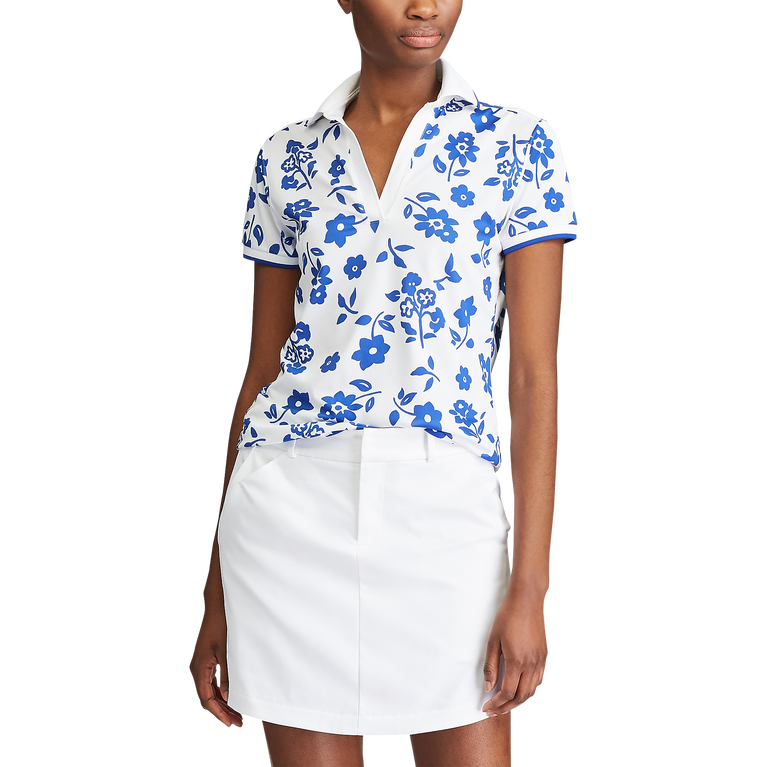 Short Sleeve Floral Print Polo