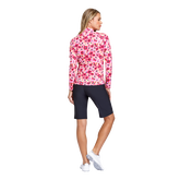 Alternate View 3 of Fun the Sun Collection: Floral Print Quarter Zip Pull Over