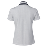 Alternate View 2 of Feminine Sport Collection: Talia Short Sleeve Jacquard Mock Polo Shirt