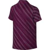 Alternate View 1 of Girls Short Sleeve Diagonal Stripe Polo