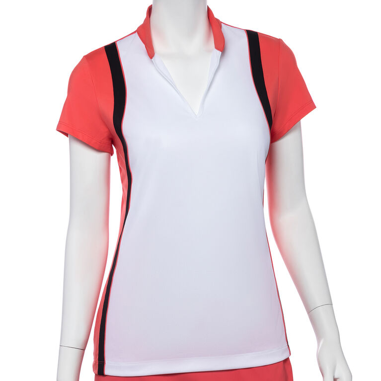 Shangri La: Short Sleeve Colorblock Polo
