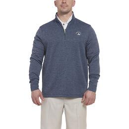 Long Sleeve Stripe Quarter Zip Pullover