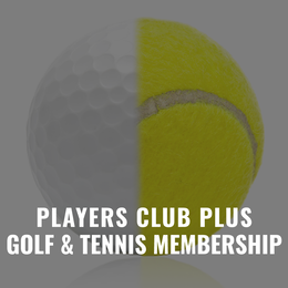 Players Club Golf and Tennis Membership Gift Certificate